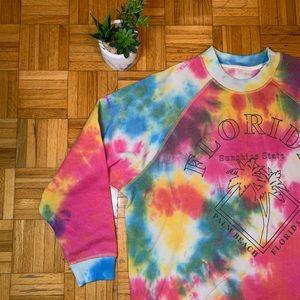 NWOT Florida Tie Dye Vintage Crewneck Sweater
